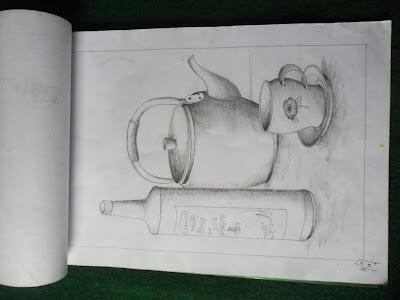 Gambar alat dapur dari arsiran Pensil