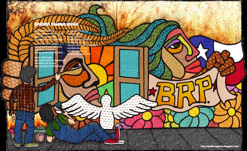 Cuadros modernos im genes de murales politicos chilenos - Cuadros murales para pared ...