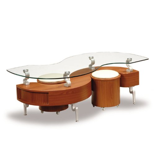 Total Fab Coffee Cocktail Tables With Stool Seating Underneath