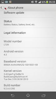 Sony Xperia TX Android 4.3