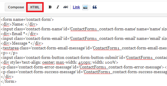 My Blogger Buzz: How to Embed Blogger's Contact Form Widget In ...