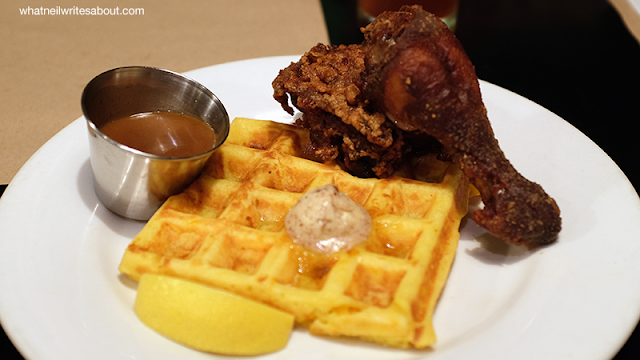 Neil Writes About Borough, The Podium. The Fried Chicken and Waffles