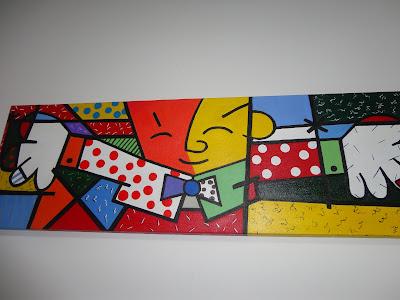 Releitura da obra do artista Romero Britto