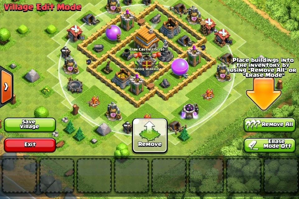 Clash of clans sxx layout de guerra cv5