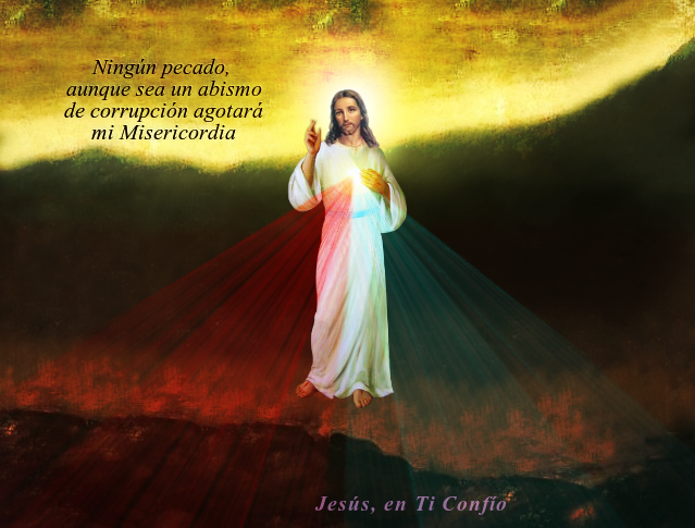 mensaje de jesus parado en orilla de un abismo