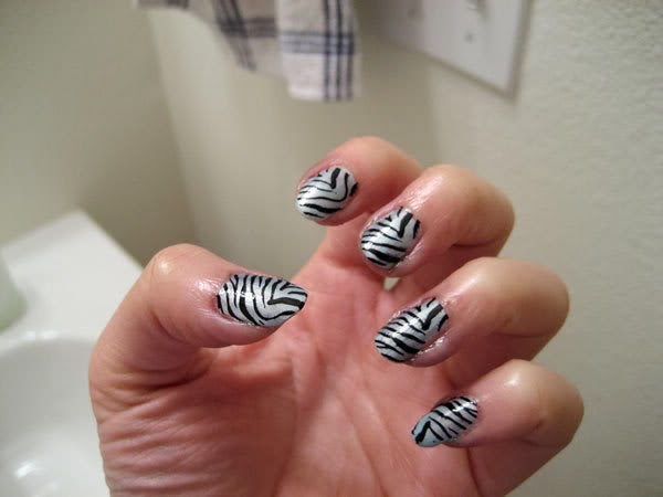 Nail Designs Zebra Stripes Nail Art Zebra Stripes 8