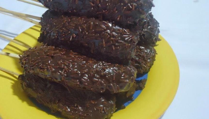 Resep dan cara membuat sate pisang coklat keju