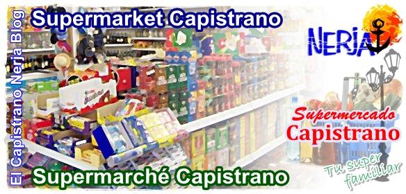Supermercado Capistrano para tus compras de vacaciones en El Capistrano Village, Nerja, Málaga, Costa del Sol