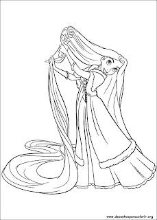 Desenhos da Rapunzel para imprimir