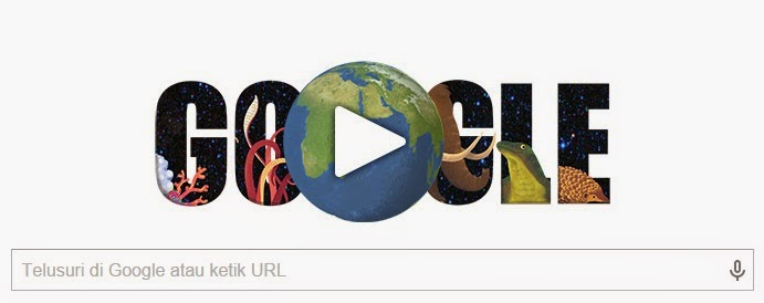 Hari Bumi Sedunia 22 April 2015 - Hari Ini Google Doodle Merayakan Hari Bumi 2015 Tepatnya 22 April 2015