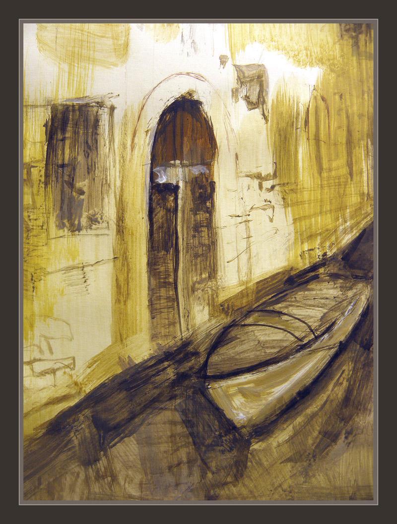 VENECIA-CANAL-PINTURA-CUADROS-PALACIOS-CANOAS-ERNEST DESCALS-