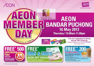 AEON Bandar Puchong Member Day at IOI Mall 2013