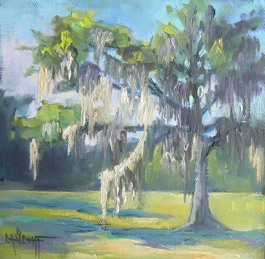 Carol Schiff Daily Paintings/Landscapes: Live Oak with Spanish Moss ...