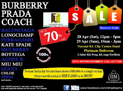Luxury Bags Sale in KL 2012
