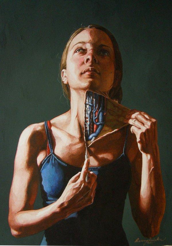 danny quirk auto dissecação anatomia surreal corpos abertos