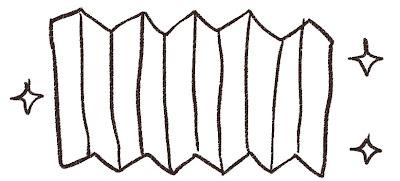屏風のイラスト(ひな祭り)線画