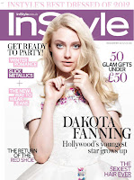 Dakota Fanning graces the cover of  InStyle UK December 2012 issue