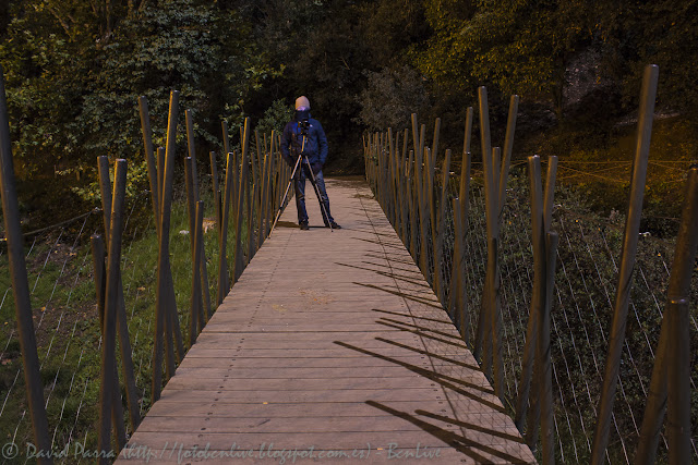 Karlos Silver en el Pantano de Vallvidrera