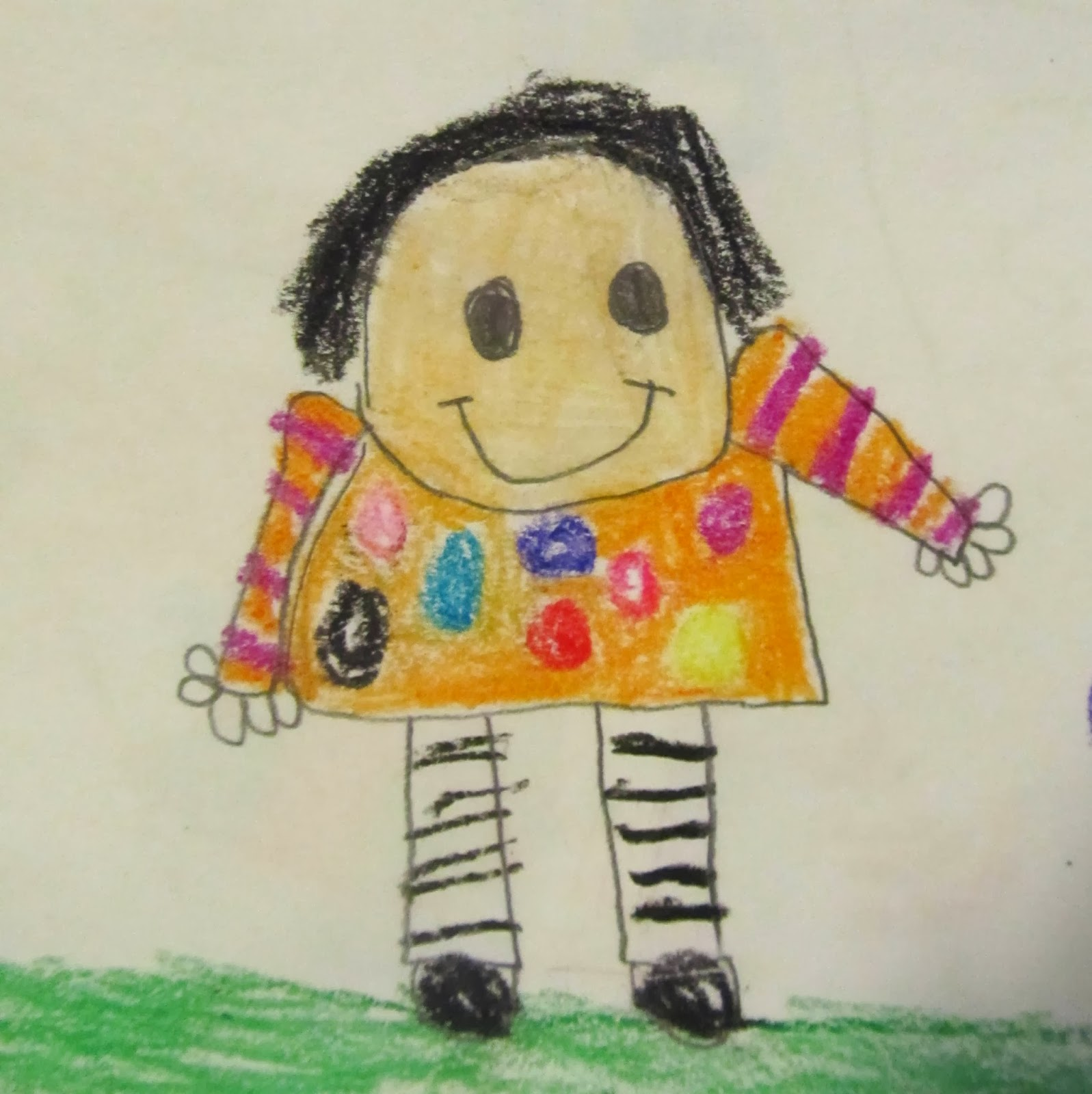 Debbie Clement portrait through the eyes of a Kinder Kiddo