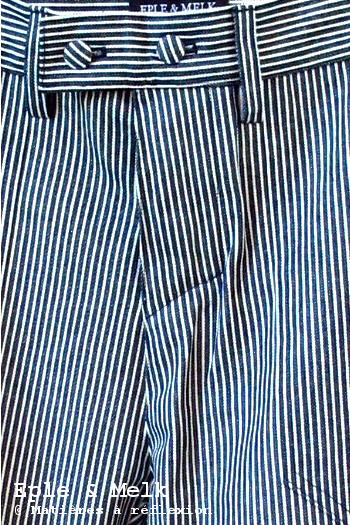 Pantalon boyfriend rayé Eple & Melk jeans coton