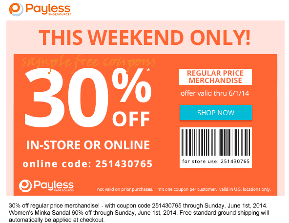 Payless ShoeSource is your in-store and online destination for the hottest styles in shoes for men, women and kids at unbeatable prices. Get Cash Back at Ebates on the perfect pairs for the whole family and cut the price tag with Payless coupons and free shipping offers.