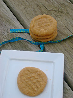 pb cookies on a plate