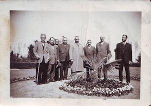 وزرای دکتر مصدق در باغ ملی لاهیجان_عکس از سید عبدالوهاب توکلی