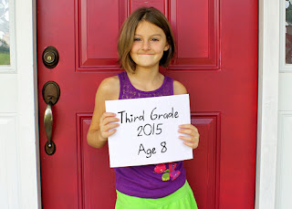 Tessa's first day of third grade!