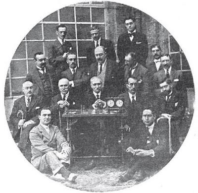 Participantes en el Campeonato de Galicia de Ajedrez de 1920