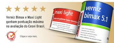Verniz Bimax e Maxi Light ganham PONTUAÇÃO MÁXIMA na avaliação do CESVI Brasil.