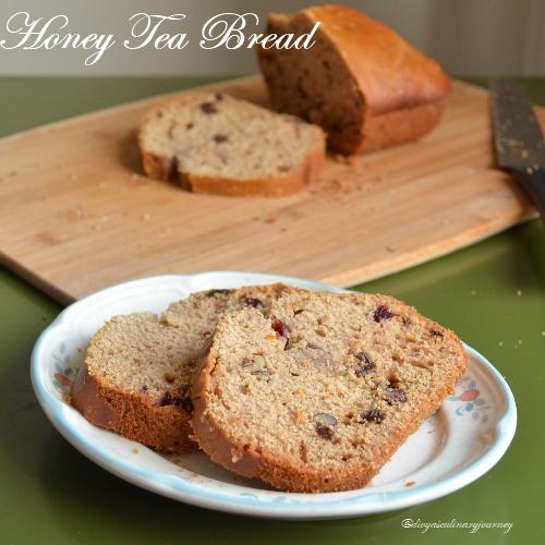 Divya's culinary journey: Honey Tea Bread