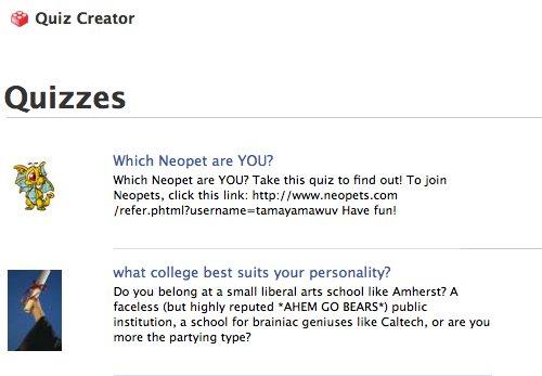 how to create facebook quiz website