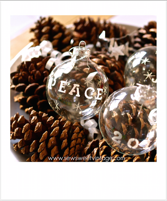how to stencil glass ornaments