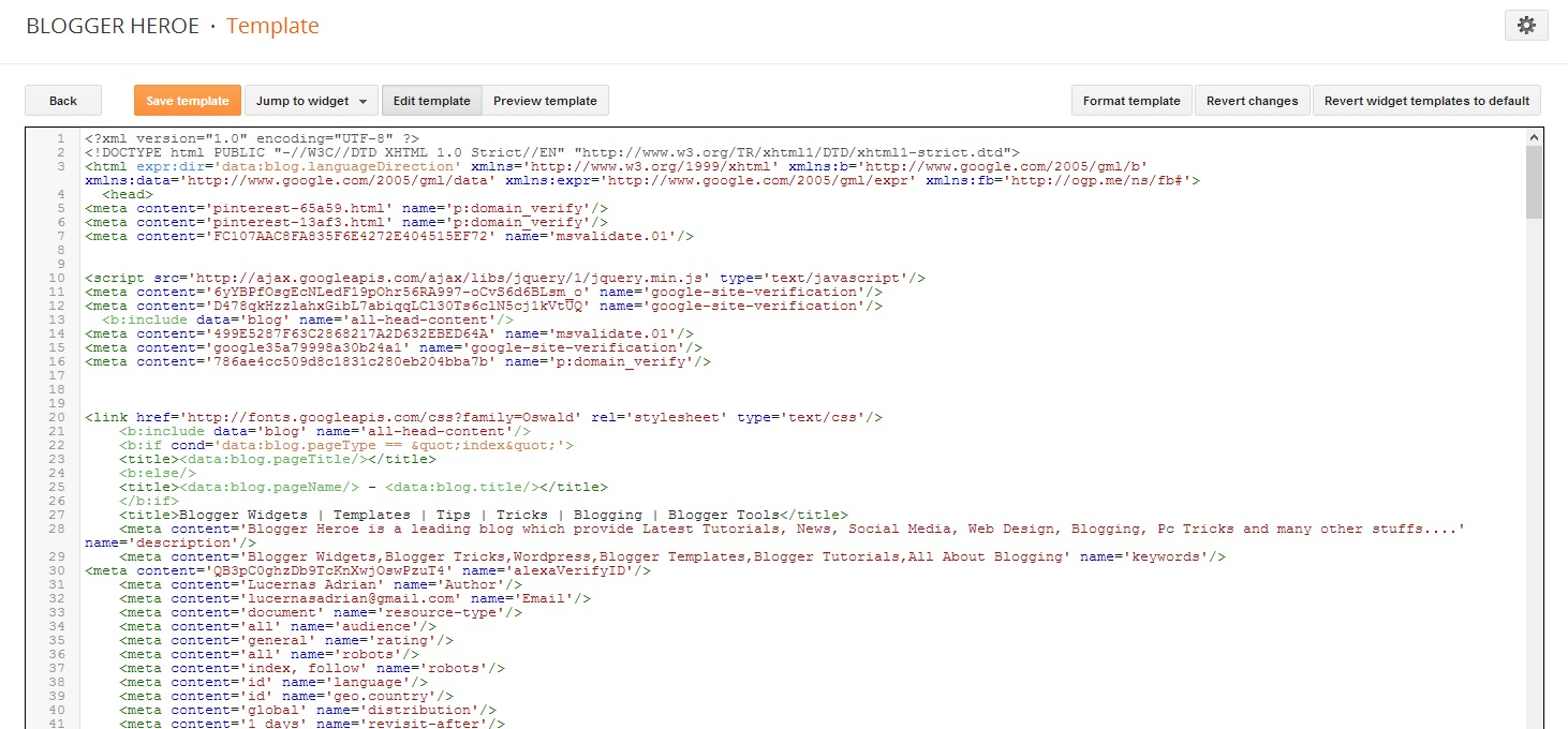 template for blogger html code - blogger 39 s new template html editor