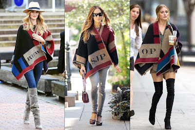 Burberry Monogrammed Poncho