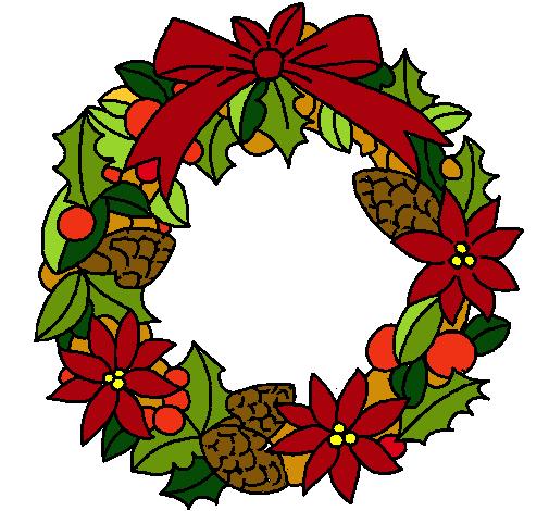 Corona de navidad en dibujos dibujos para ni os - Dibujos de navidad en color ...