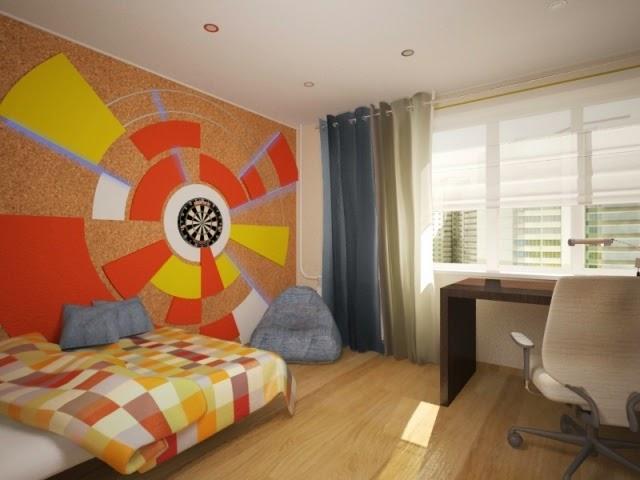 Habitaciones juveniles con paredes decoradas dormitorios for Paredes decoradas modernas