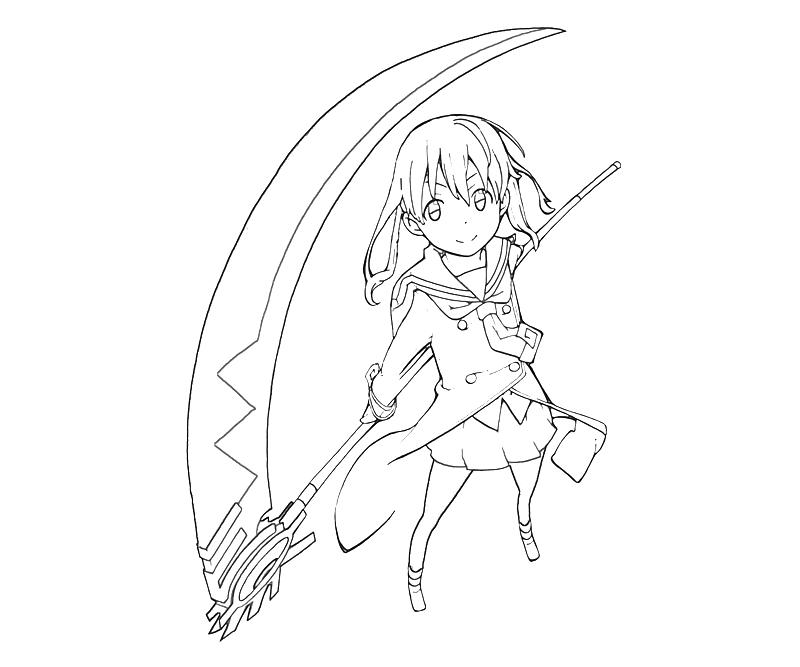 printable-soul-eater-maka-albarn-smile-coloring-pages