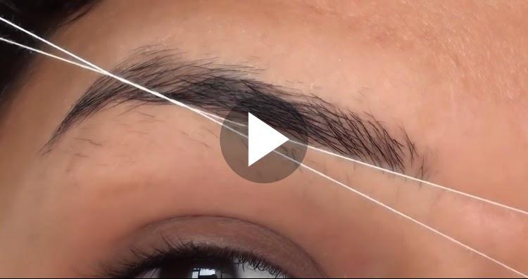 Diy perfect eyebrow threading tutorial diy get perfect eyebrow diy perfect eyebrow threading tutorial diy get perfect eyebrow shape using threading solutioingenieria Choice Image