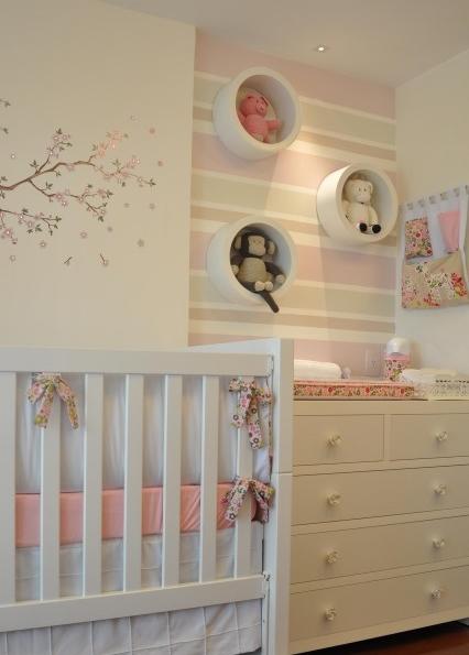 Coisas de mulherzinha quarto para o beb - Habitaciones infantiles pintadas a rayas ...