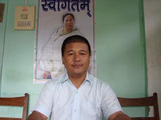 Rajen Mukhia, president of Trinamul (hill)