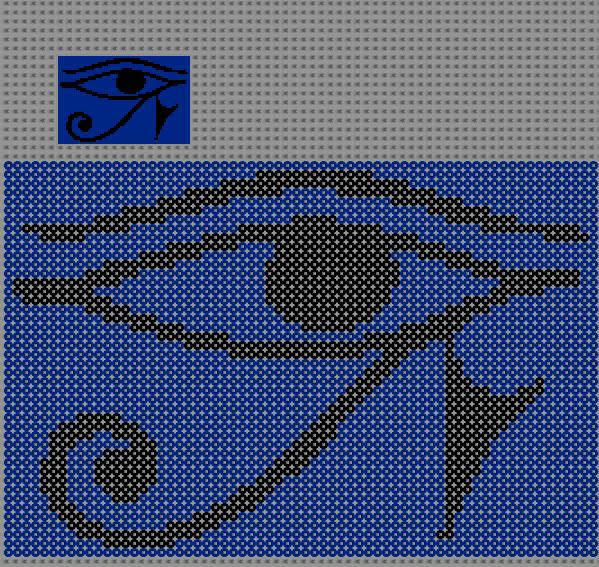 pixel art egyptien