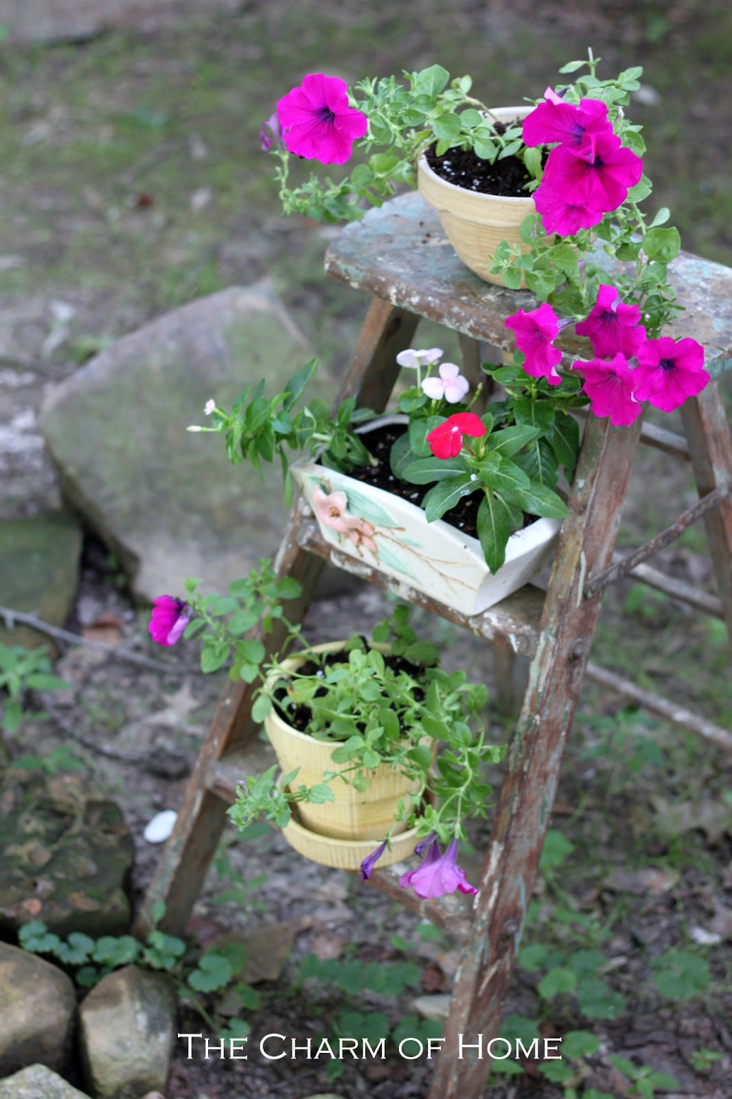 the charm of home rustic garden decor