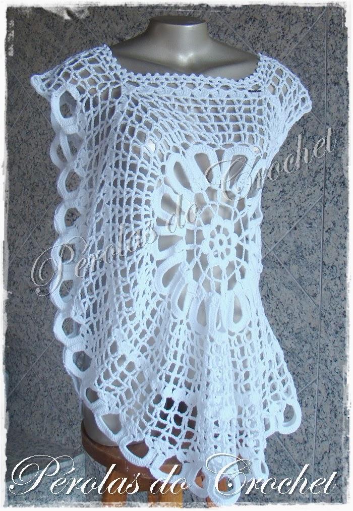p rolas do crochet blusa em crochet modelo ana maria