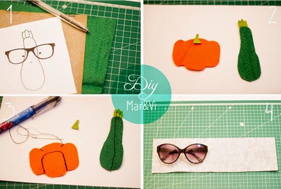 Funda para gafas de fieltro paso a paso