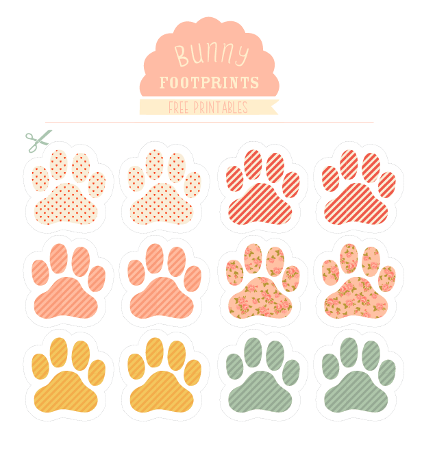 Easter Bunny Footprints Printable 'follow the bunny' printable