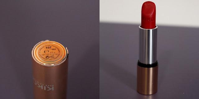 rouge à lèvre mat 607 passion red kiko