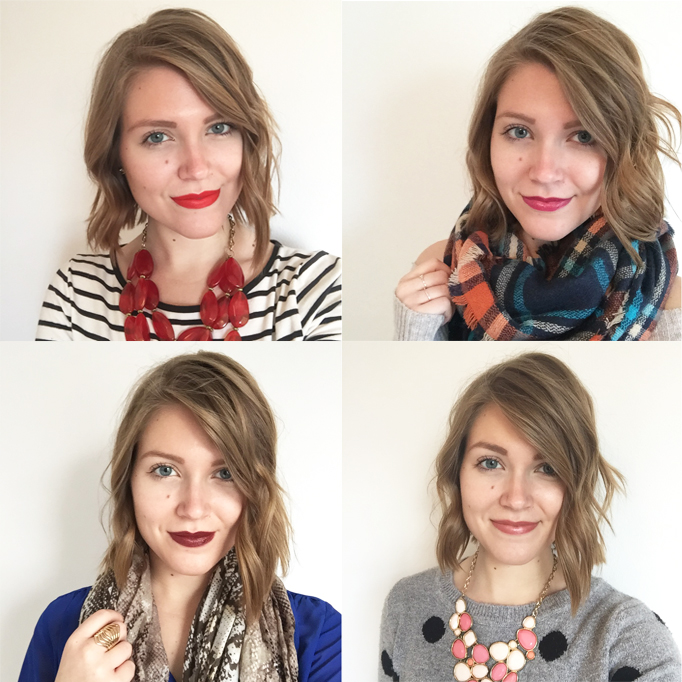 My thoughts on four NYX, Revlon, Rimmel and NARS lipsticks