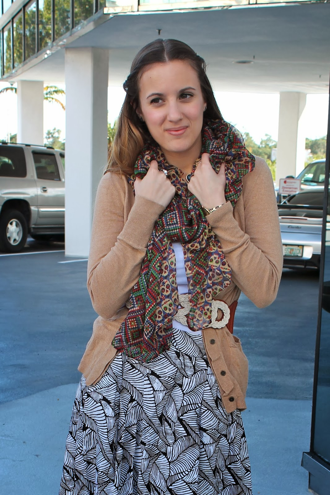 Anthropologie, LF Stores, Forever 21, LOFT, fashion blogger, ootd, edgy, pattern mixing, winter fashion, Miami,