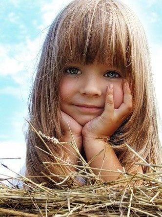 peinados infantiles flequillos